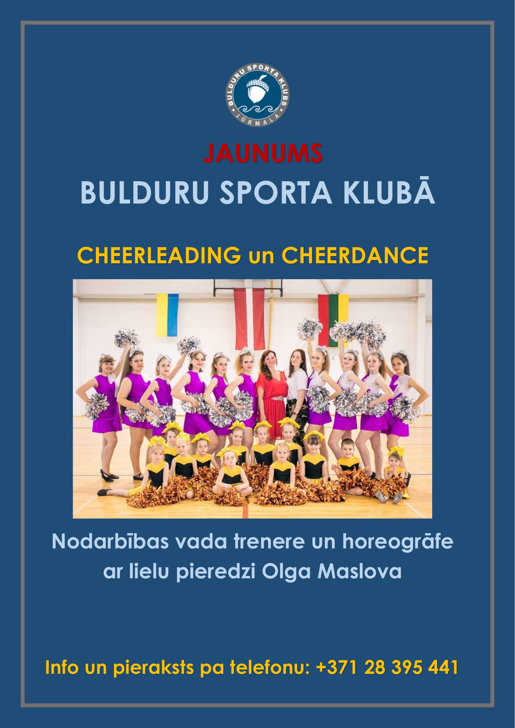 Cheerleading/Cheerdance Bulduru sporta klubā!